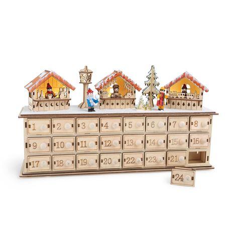 Calendario de adviento en madera ´bazar navideño´ - 1290