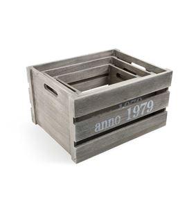 Caja de madera shabby chic - 1398