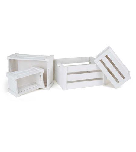 "Caja de madera ""blanco"" - 1499"