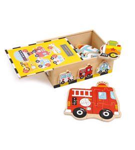 Caja de puzle, vehículos - 1591
