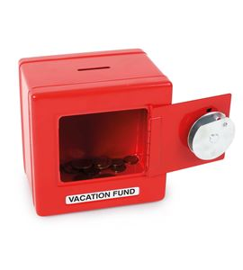 Caja fuerte de metal, roja - 2187