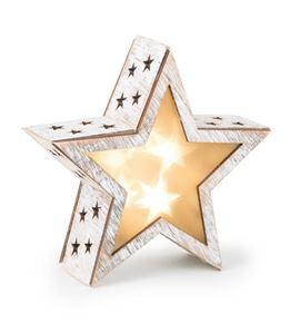Lámpara de estrella shabby chic, pequeña - 2387