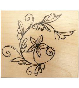 Sello de madera flor - ARTMG75