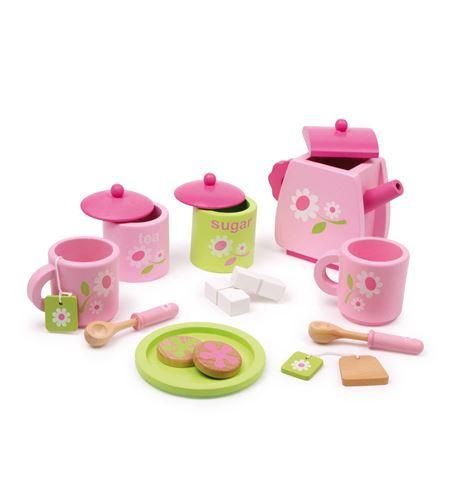 Juego de té, rosa - 2849