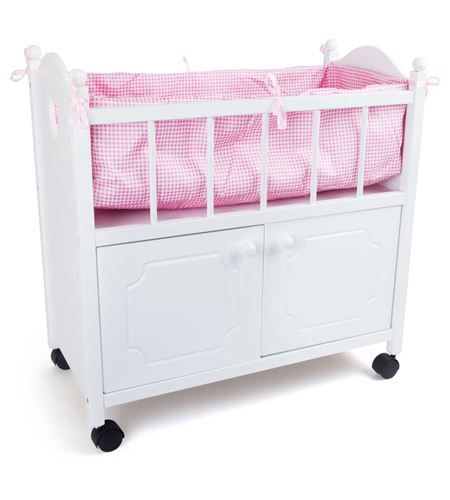 Cama de muñeca con armario - 2875