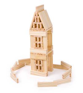 Juego de construcción de madera natural - 3218