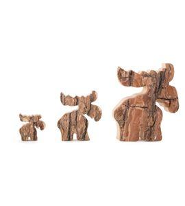 Figuras decorativas, familia de alces - 3549