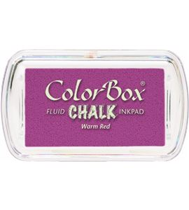 Tampón de tinta mini colorbox chalk - warm red - CL71217