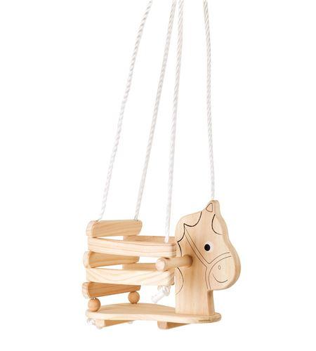 Columpio de madera caballo - 4774