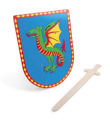 Escudo y espada dragón - 5892