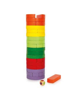 Torre temblor redondo & colorido - 6097