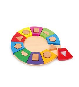 Puzle para encajar formas, círculo - 6575
