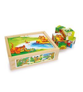 Puzle de cubos, diversión animal - 6621