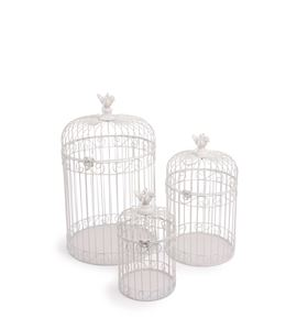 Decoración vintage, jaula de pájaros - 6725