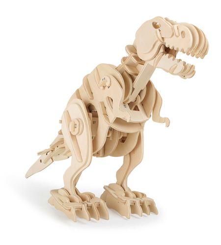Juego de construcción de madera dino robot t-rex con control remoto - 6945