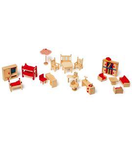 Muebles de muñeca con jardín - 7219