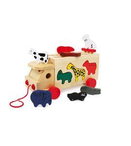 Vehículo del zoo con animales - 7223