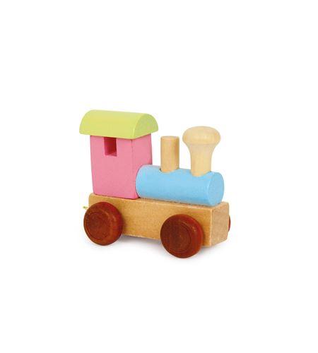 Tren de letras locomotora, colorido - 7894