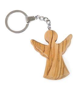 Llavero ángel de madera - 8397
