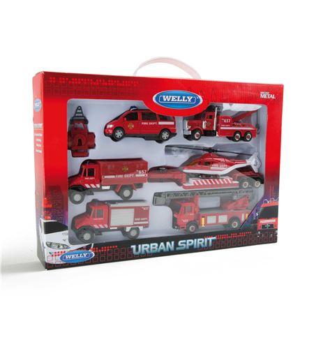 Coches en miniatura bomberos - 8589