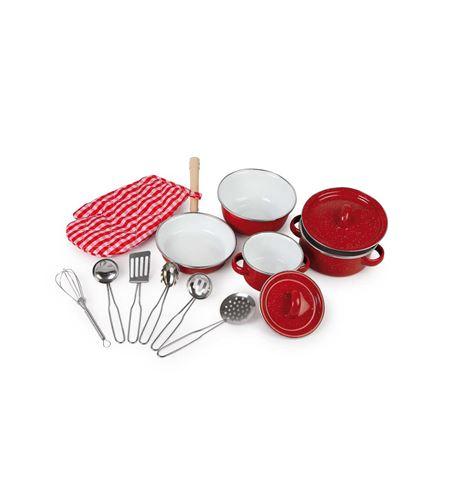 Batería de cocina, roja - 8964