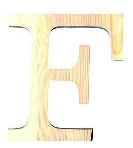 Letra madera pequeña f - 14001086