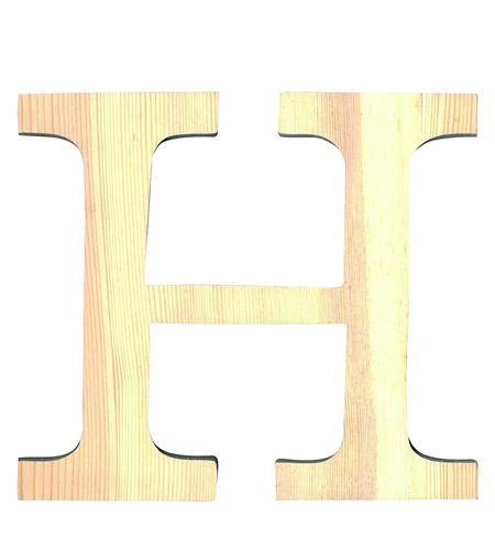 Letra madera pequeña h - 14001088