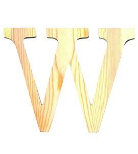 Letra madera pequeña w - 14001103