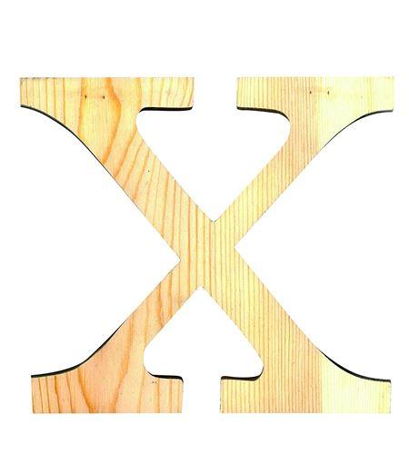 Letra madera pequeña x - 14001104
