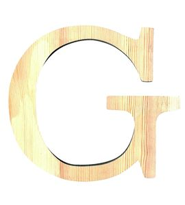 Letra madera grande g - 14001113