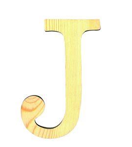 Letra madera grande j - 14001116