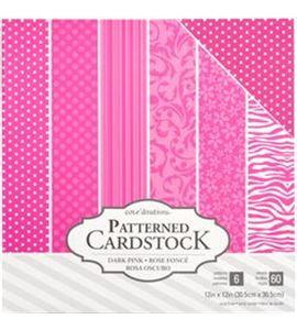 Pack de papel-cartulina - rosa fucsia - 379546