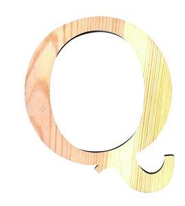 Letra madera grande q - 14001123
