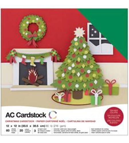 Pack de papel-cartulina - navidad - 376985
