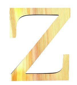 Letra madera grande z - 14001132