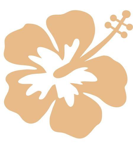 Set de siluetas 3 flores hibis - 14001273