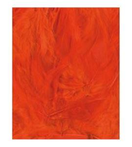 Plumas fantasía tipo plumón naranjas - 13030016
