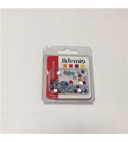 Estrellas de colores de plástico - 11006055