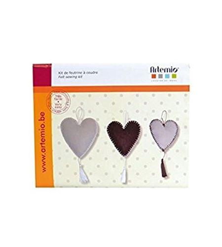 Set de fieltro para coser - corazones - 13070054