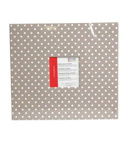 Álbum de scrapbooking - beige con lunares - 11010011