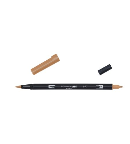 Tombow dual brush-saddle brown - ABT_977_OPEN