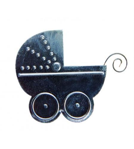 Stickers metálicos - carrito de bebé - 11006124