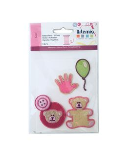 Set de parches bordados adhesivos - infantil - 13063003