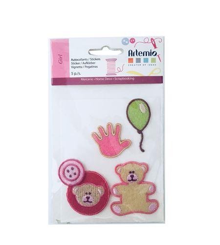 Set de parches bordados adhesivos - infantil - 13063003