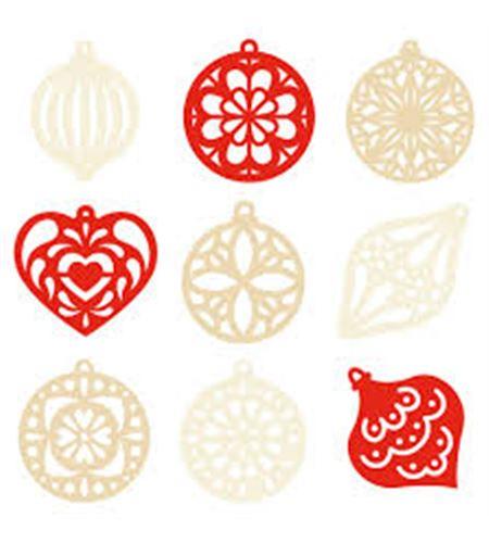 Set de mini siluetas de fieltro - navidad roja - 13070083-1