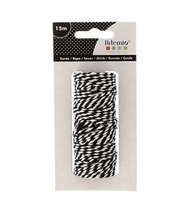 Cuerda bicolor - blanco y negro - 13030110