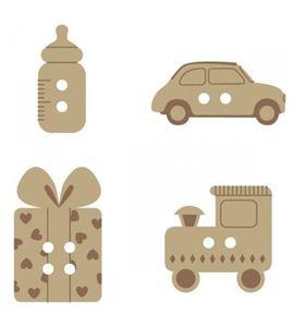 Botones de madera - bebé - 14001710-1