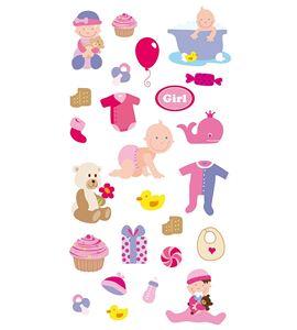 Autoadhesivos 3d bebé multicolor - 11004123