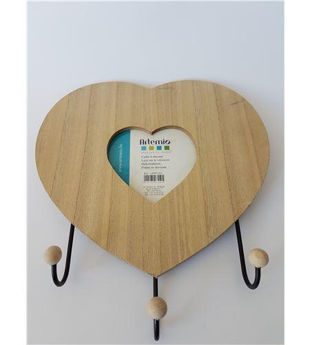 Marco corazón + 3 ganchos - 14001201
