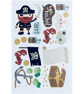 Vinilo de pared - piratas (48 x 32cm) - 22004002